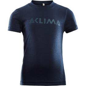 Aclima LightWool T-shirt Kinderen, blauw